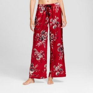 Gilligan & O'Malley Satin Red Floral  Pants